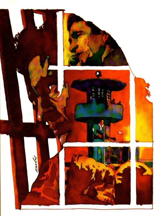 Johnny Cash illustration by John Keely